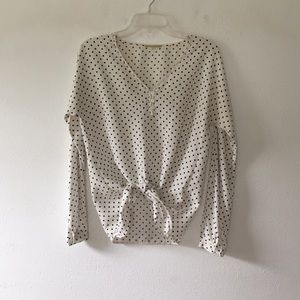 Gianni Bonnie polka dot blouse